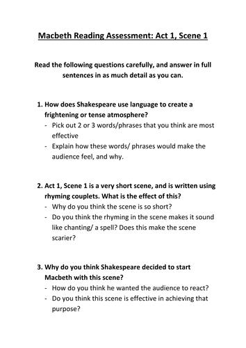 Macbeth- scenes 1-3