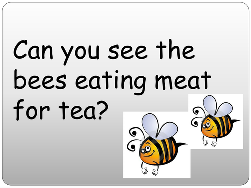 Silly sentence PowerPoint (ai/ee/ow/igh focus)