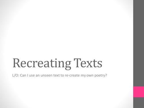 recreating texts