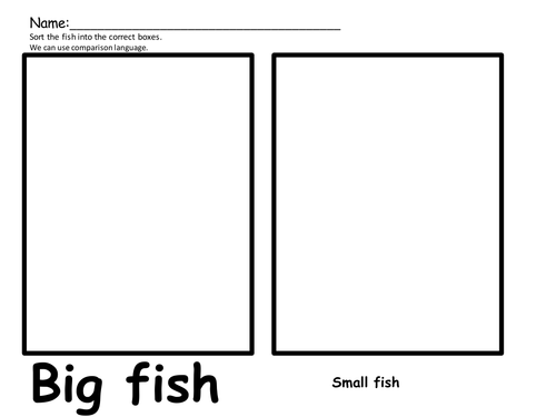 sorting big and little fish