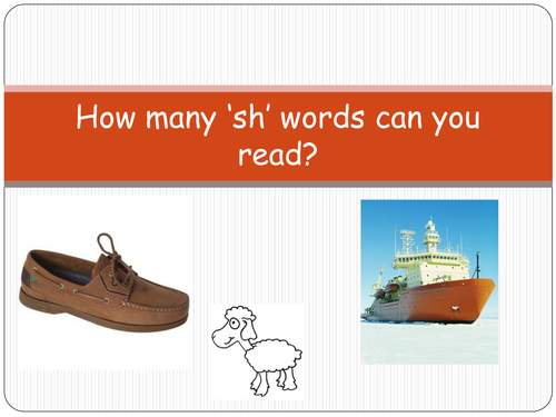 'sh' words PowerPoint