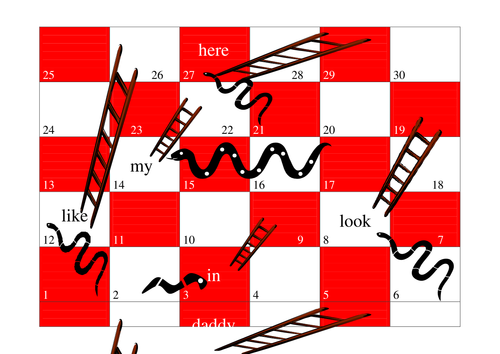 Reading snakes and ladders