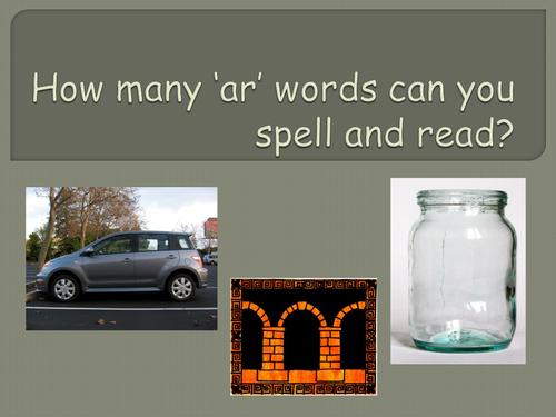 'ar' words PowerPoint