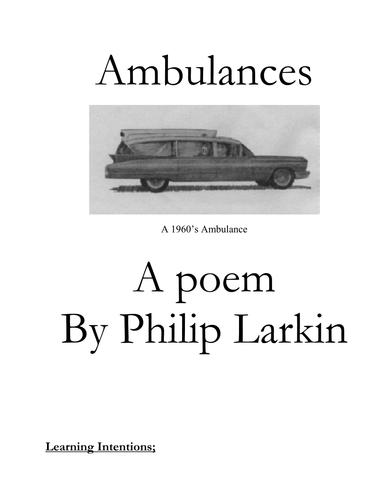 Ambulances by Philip Larkin