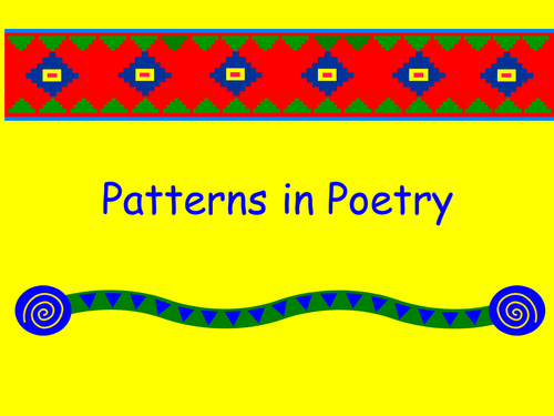 Patterns in Poetry