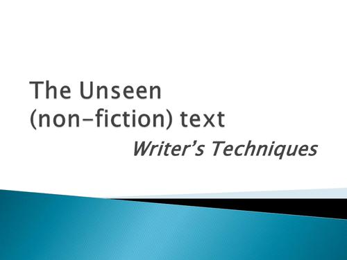 Writer's Techniques