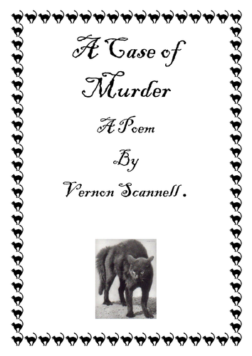 A Case of Murder (Close Reading Activities)