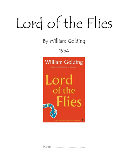 Lord Of The Flies Booklet By Princesslola Teaching Resources Tes