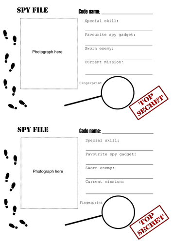 Spy ID sheet