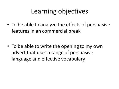 Persuasive Lesson