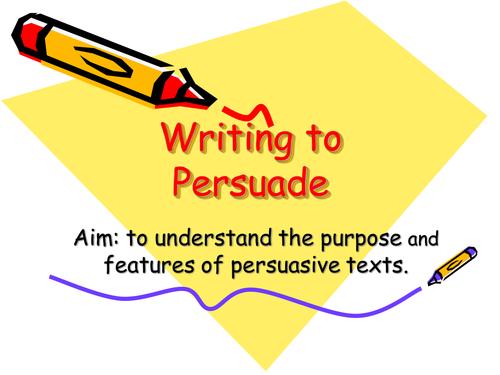 Persuasive writing- travel brochures.