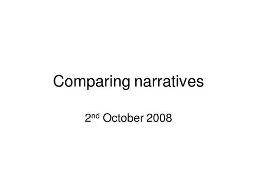 Stone Cold comparing narratives