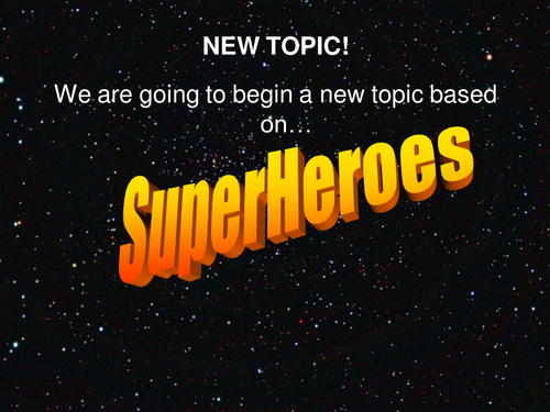 Superheroes scheme Lesson 1 PowerPoint