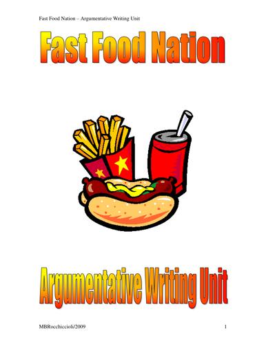 Argumentative Writing - Fast Food