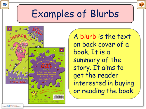 Blurb Examples | Teaching Resources