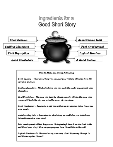 Ingredients for a Good Short Story