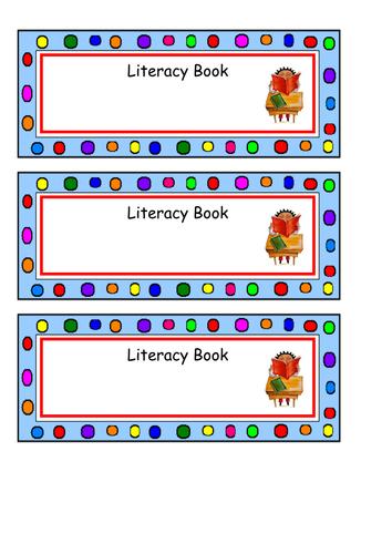 Labels for books or desks