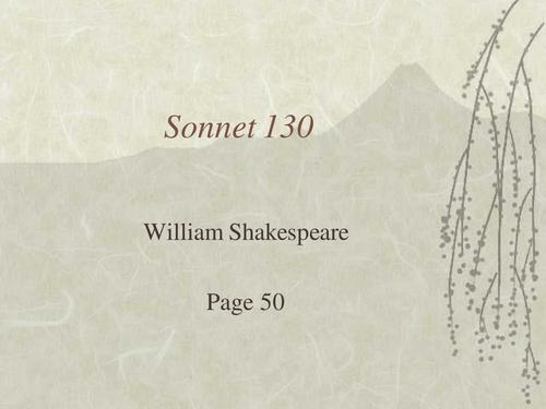 William Shakespeare's Sonnet 130