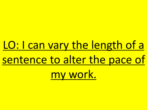 PowerPoint Stories: Varying Sentence Length
