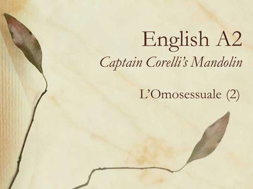 Captain Corelli's Mandolin: Carlo 2