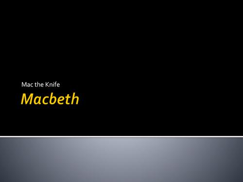 Macbeth Murder Mystery Activity