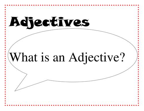 Little Red Riding Hood - Adjectives work