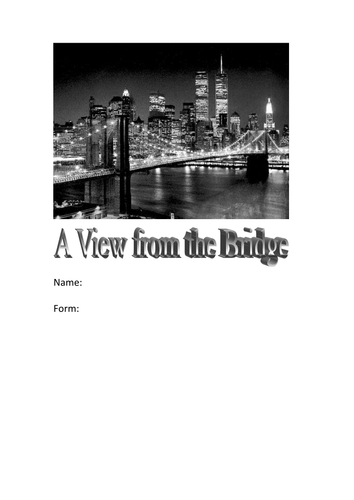 a view from a bridge coursework A view from the bridge coursework free essays, term papers and book reports thousands of papers to select from all free.
