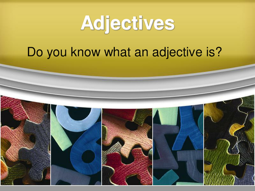 Adjectives - Five Types