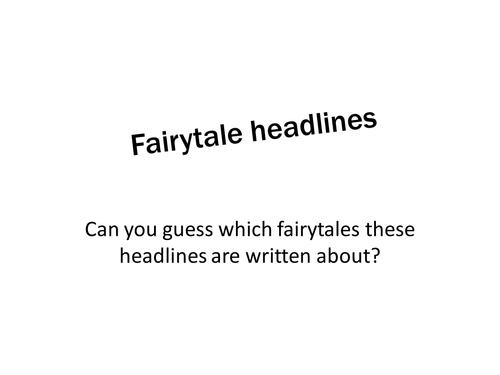 Fairytale news headlines game