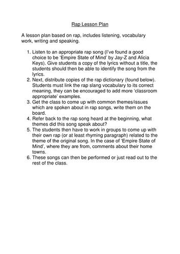 Creative Writing:Rap