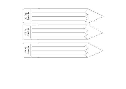Writing target pencils