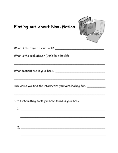 Finding out about Non-Fiction