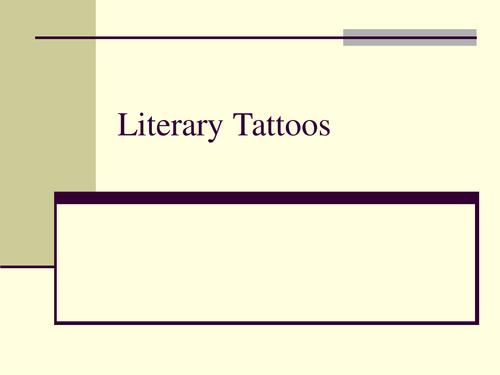 Literary Tattoos