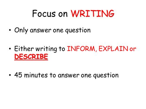 Writing to describe (a person)