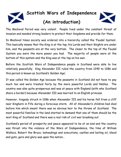 Literacy and the Scottish Wars of Independence