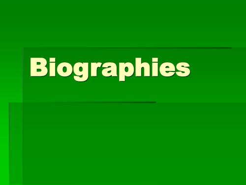 Developing better writing skills through biography