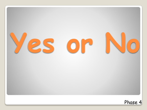 Yes or No Questions PowerPoint Activity