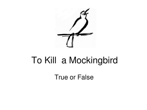 To Kill a Mockingbird- True or False