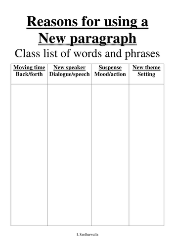 Why New Paragraph?
