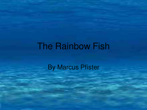 Rainbow fish whiteboard book