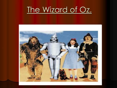 K-2 Wizard of Oz quiz