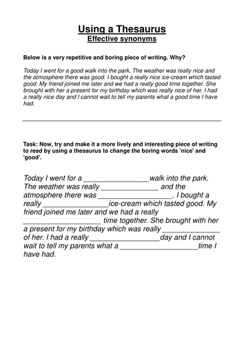 Effective synonyms: starter task