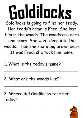 Goldilocks Comprehension