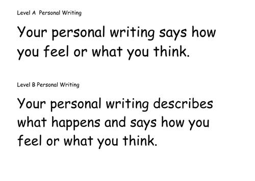 Writing Criteria Level