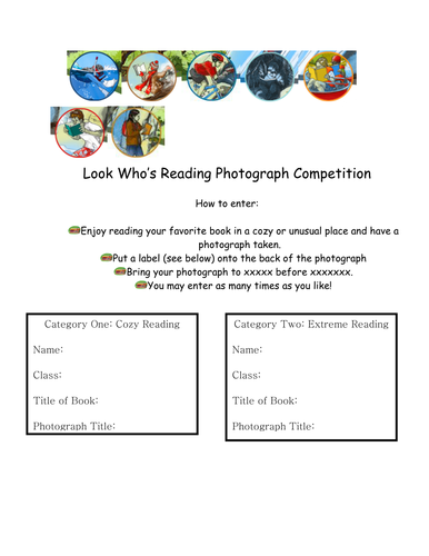 Look Who's Reading Competition