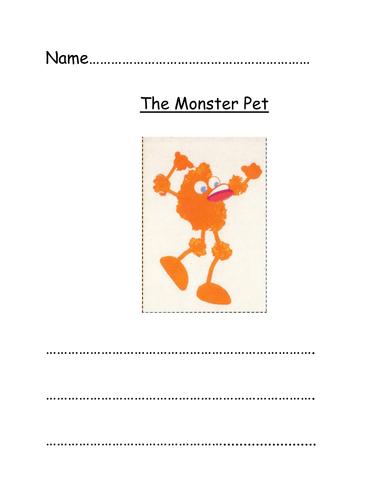 Monster Pet Writing Frame
