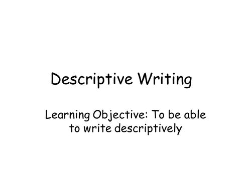 Grade 7 descriptive writing