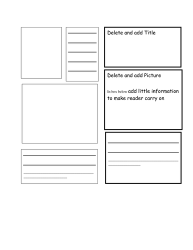 Booklet template by bluerose teaching resources tes for Instruction leaflet template