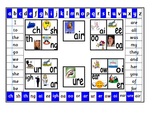 Word and phonic mat