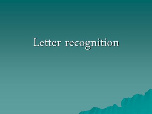 letter/grapheme recognition